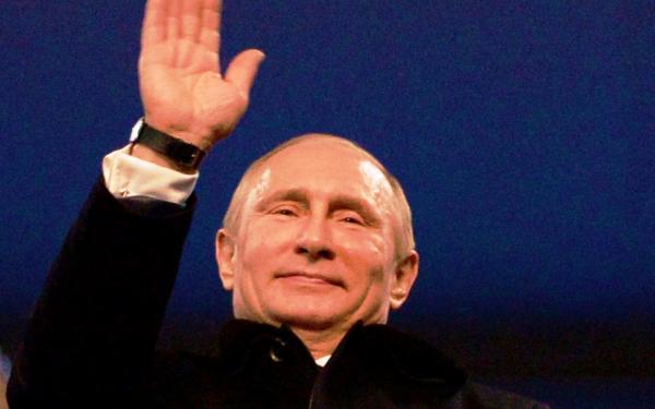 Президент России Владимир Путин на открытии олимпиады в Сочи