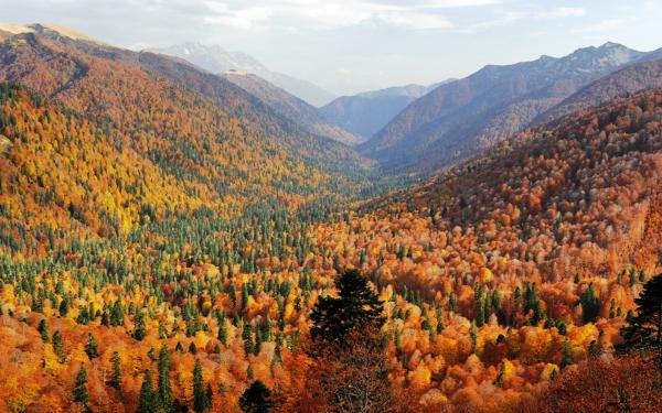 Картинки осень на кавказе