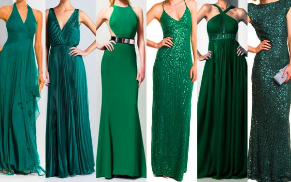 Платья вечерние зелёного цвета