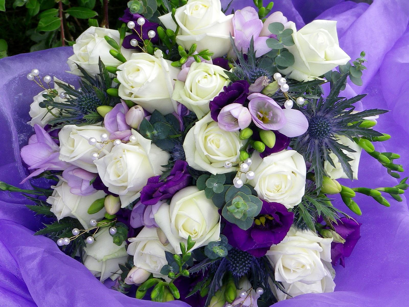 Скачать фото букетов красивых цветов