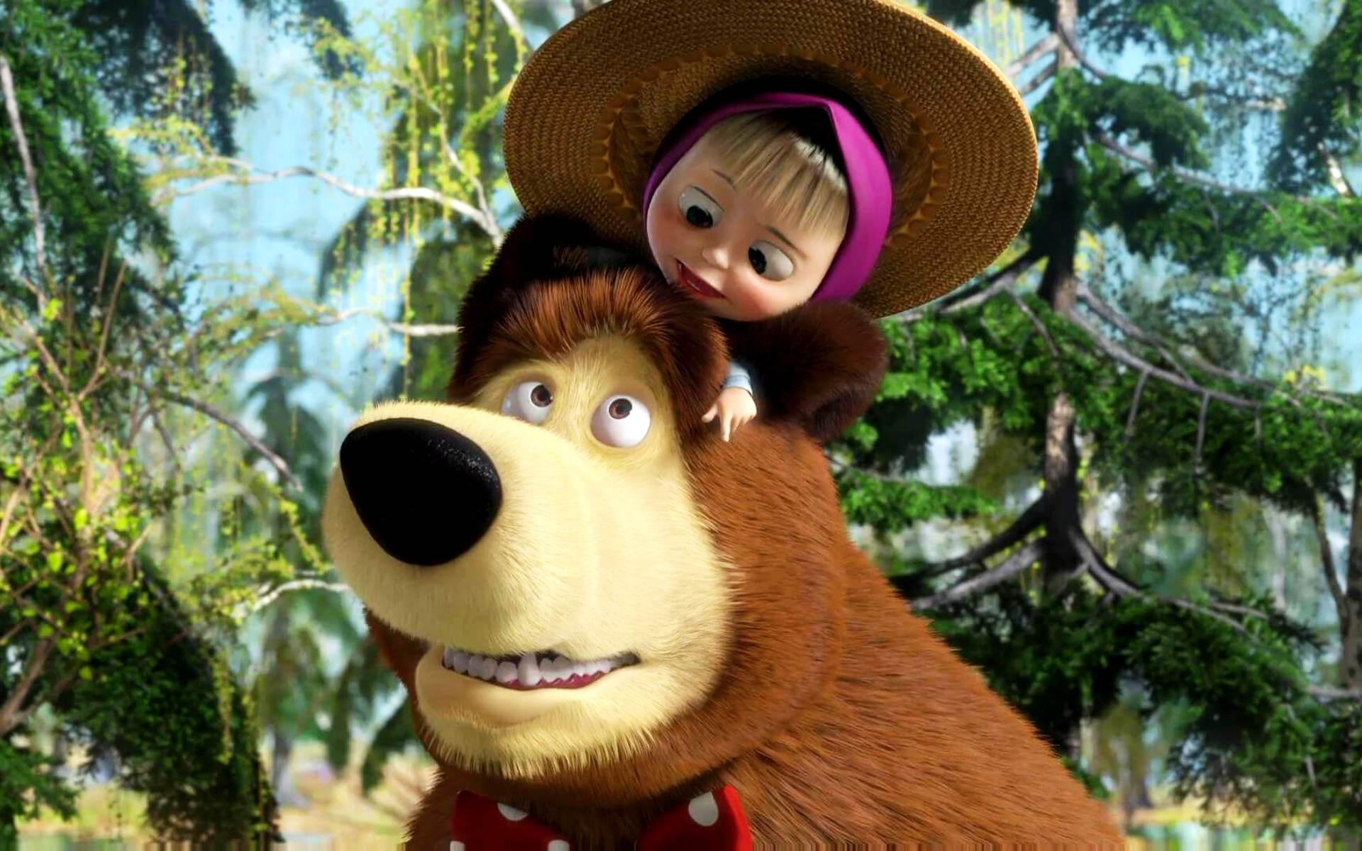 Картинка маша и медвед - e