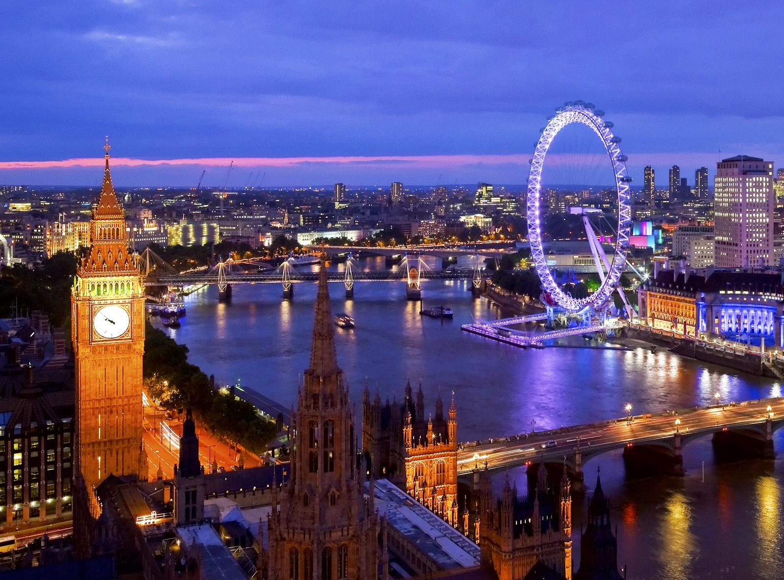 Лондон зажигает огни