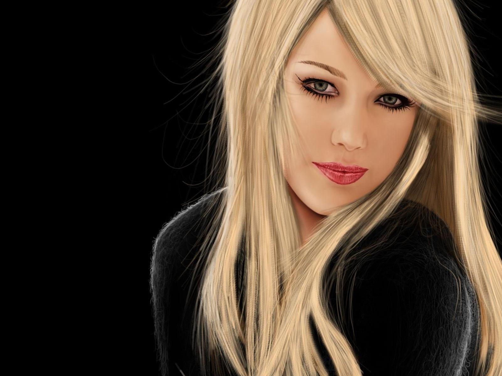 Симпатичная девушка блондинка