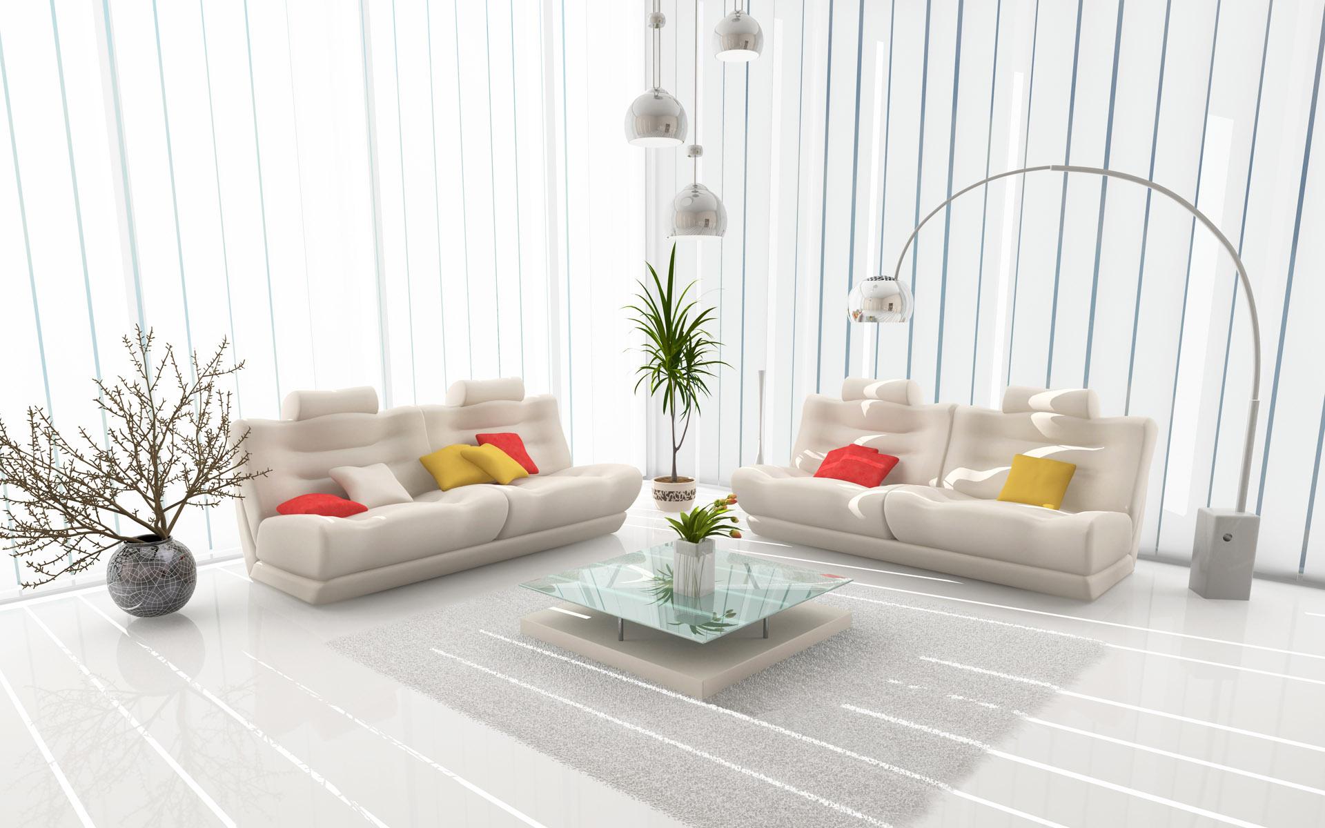 Белая комната интерьер