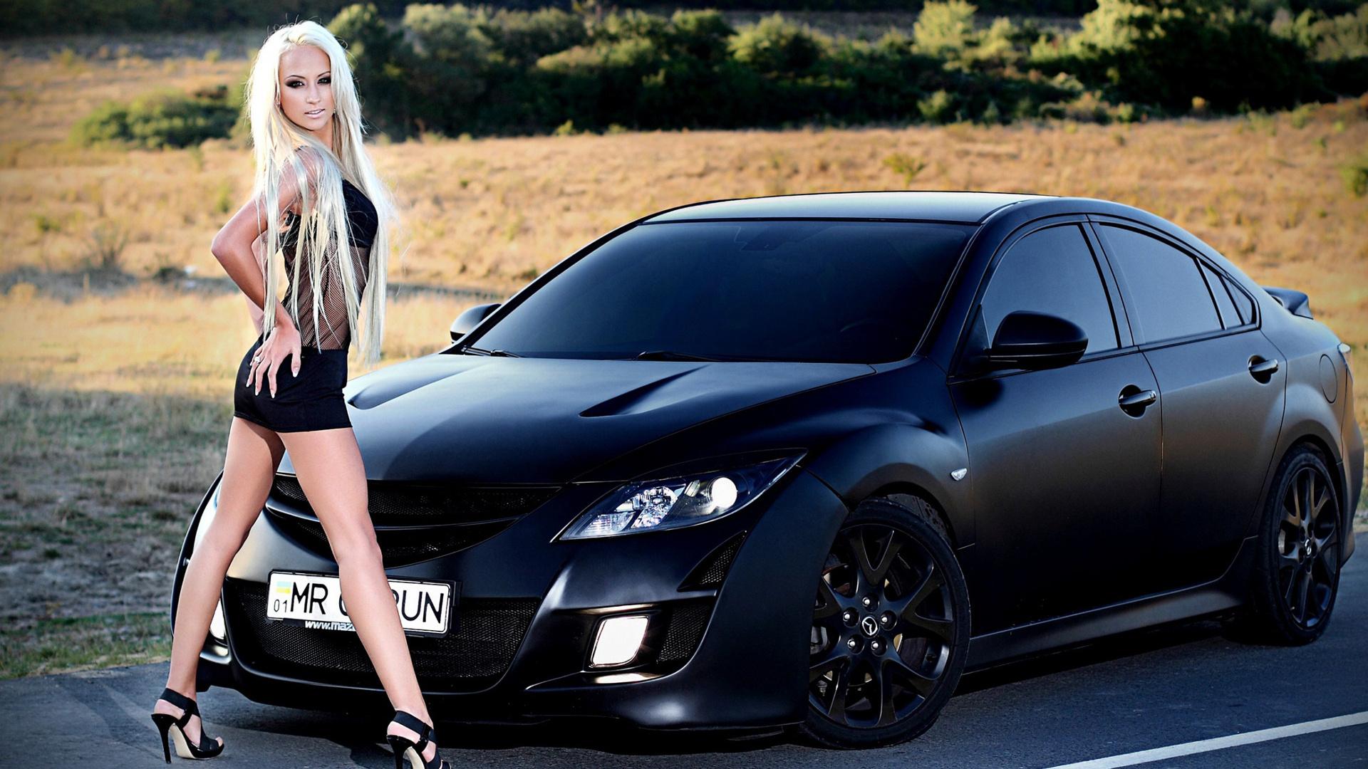 девушки и автомобиль картинки