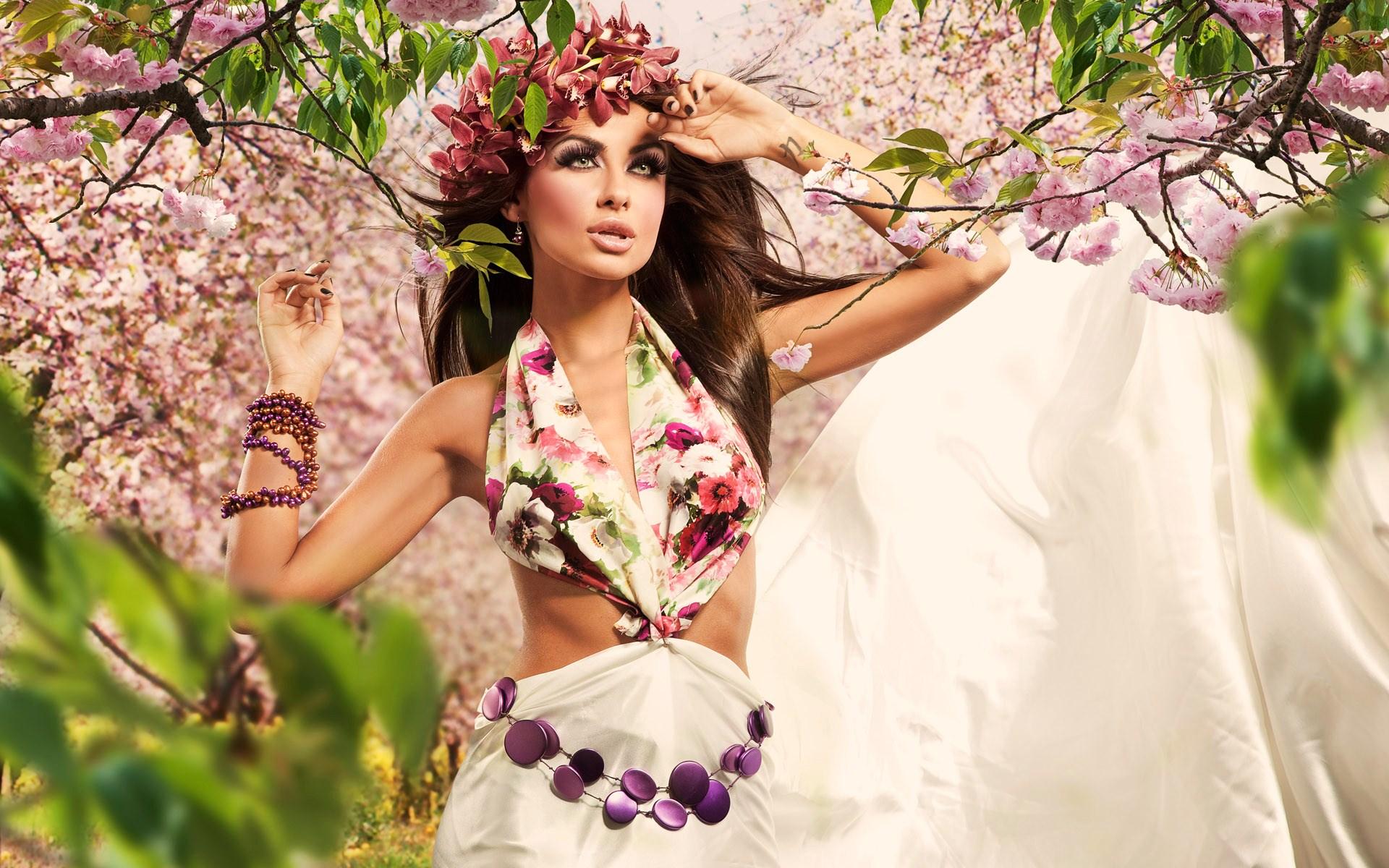 девушка весна картинки