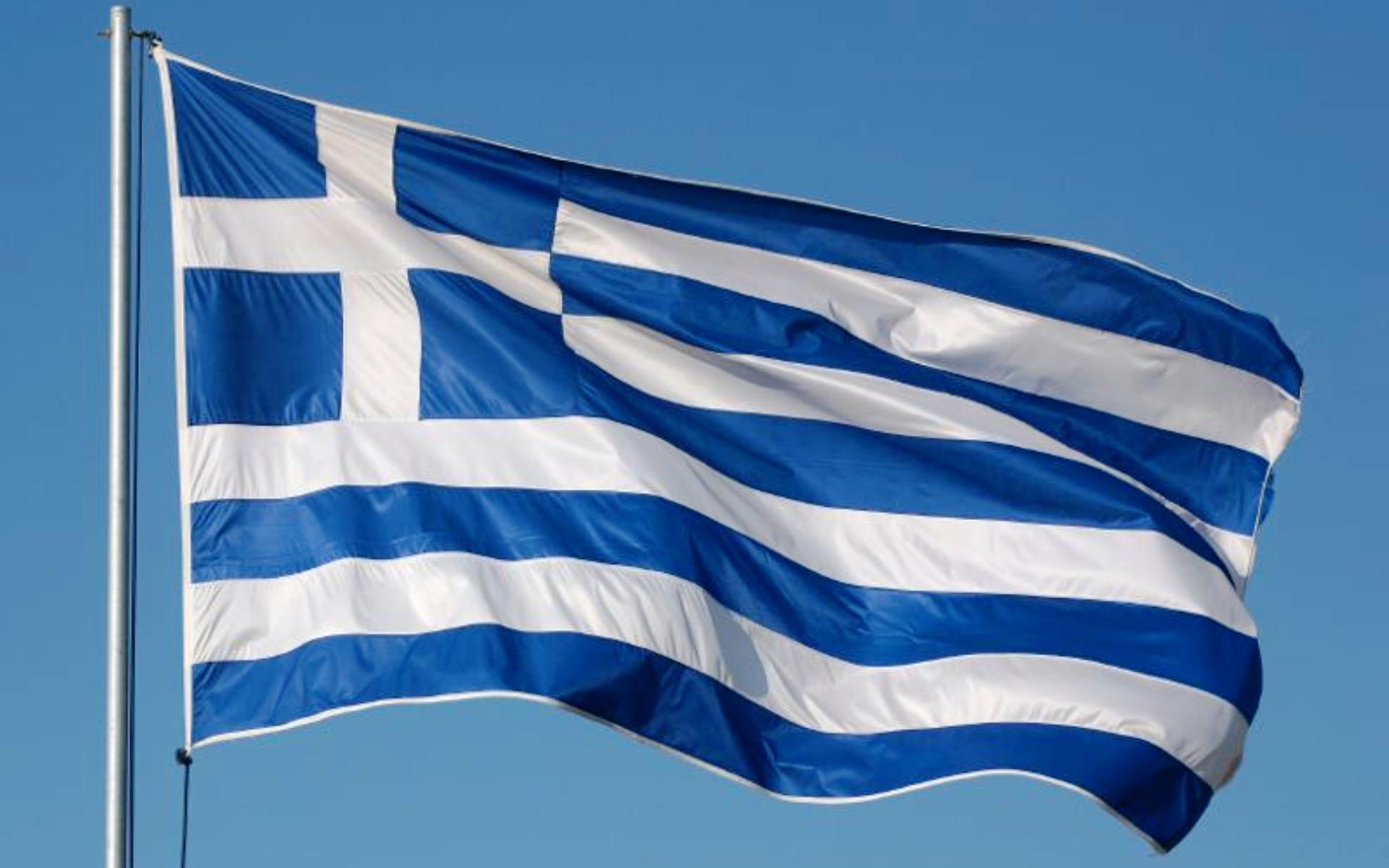 фото флаг греция