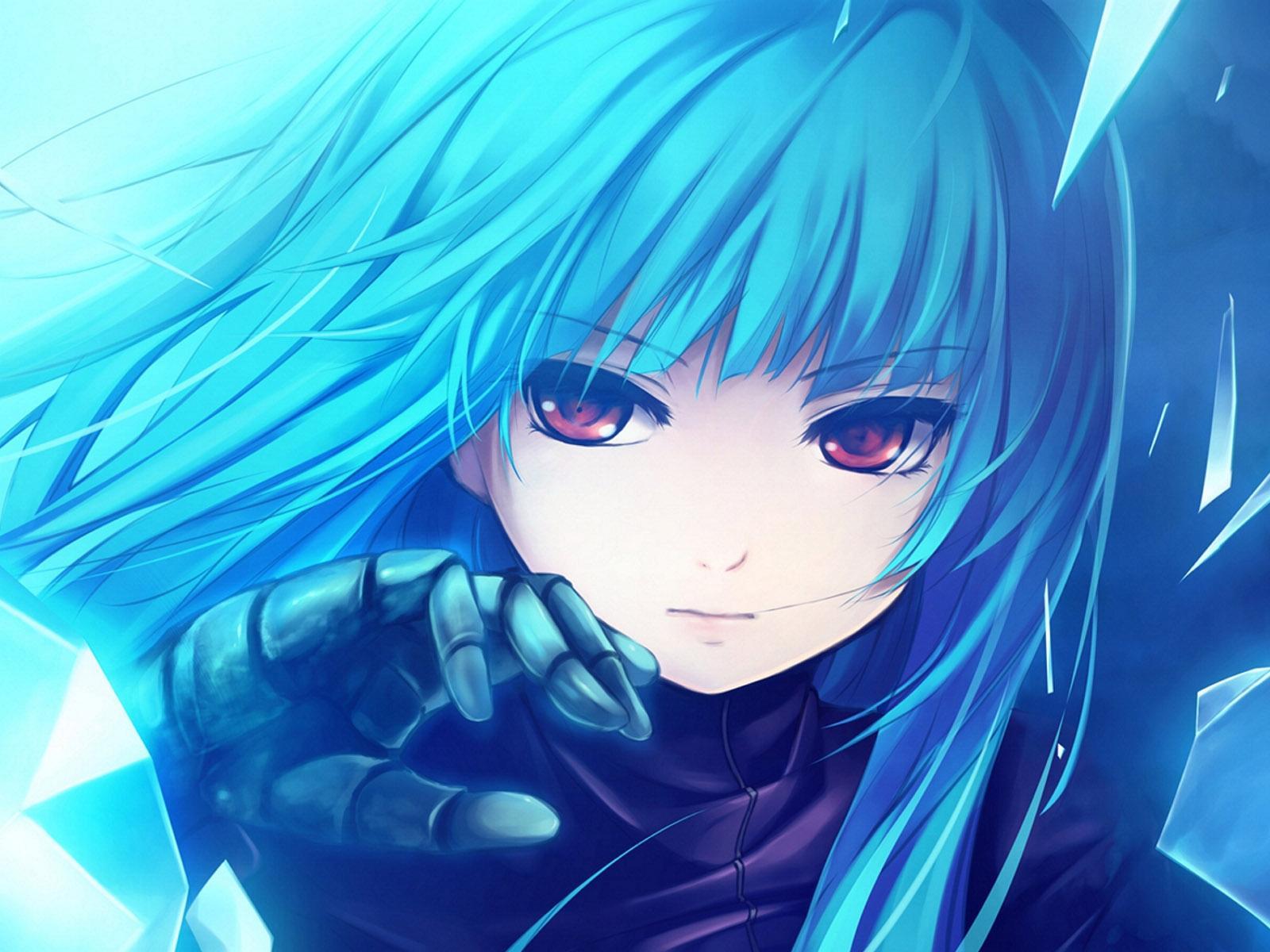 Девушки с голубыми волосами аниме