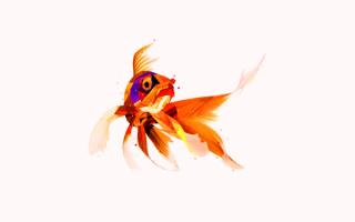 3D золотая рыбка