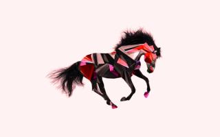 3D лошадь