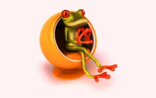 3D лягушка