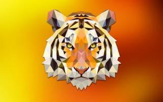 3D тигр
