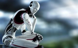 Робот-мыслитель 3d