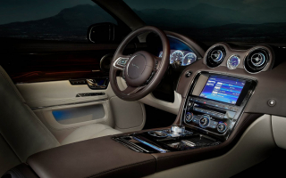 Jaguar XJ 2012 cockpit / Ягуар XJ 2012г кабина