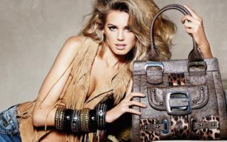 Гламурная девушка с модной сумочкой