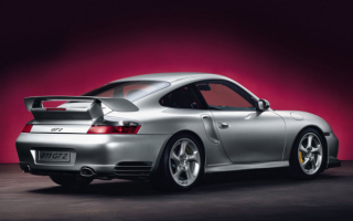 Порше 911 GT2 вид сзади