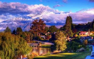 Город Ванака в Новой Зеландии
