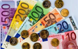 Евро купюры и монеты