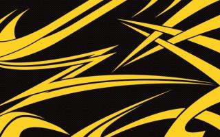 Желто-черная абстракция