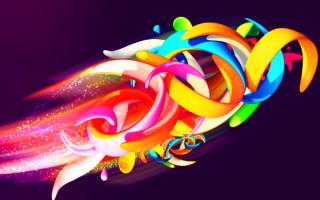 Картинка цветной абстракции