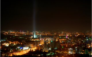 Алматы ночью