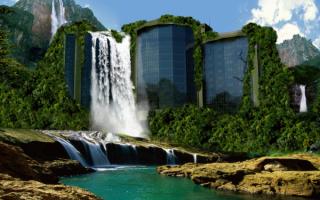 Алматы  водопад