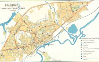 Город  Владимр  карта