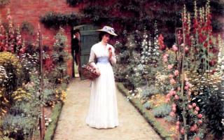 Дама в саду. Эдмунд Блэр Лейтон