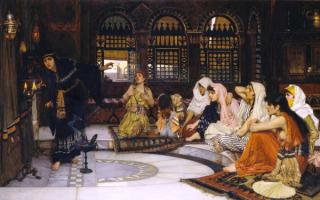 Посещение оракула - картина Джона Уильяма Уотерхауса