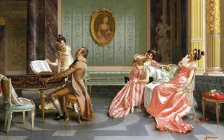 Сольный концерт - картина Витторио Реджианини