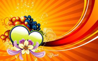 Позитивные сердечки и цветы