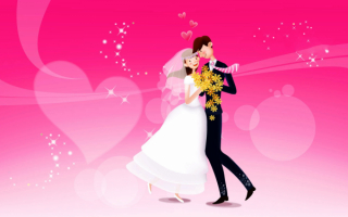 Влюбленная пара танцует