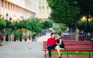 Мужчина и женщина в парке