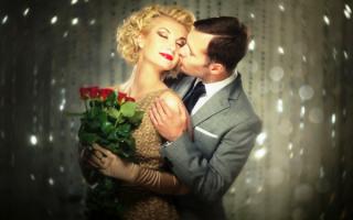 Нежный поцелуй мужчины