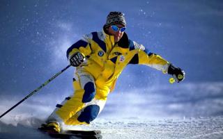 Мужчина горнолыжник