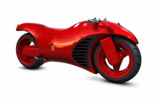 Мотоцикл Феррари V4 супербайк