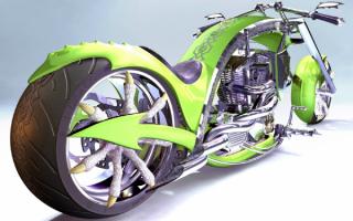 Прикольный мотоцикл Дракон