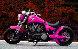 Розовый мотоцикл