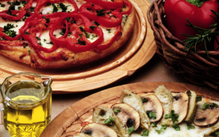 Пицца с грибами и перцем