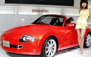 Девушка японка с японской машиной