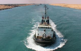 Суэцкий судоходный канал в Египте