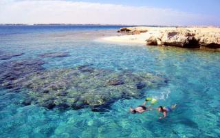 Коралловые острова в Красном море