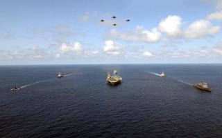 Авианосец США в походе