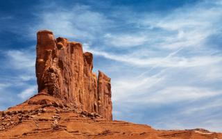 Природный монумент на земле индейцев