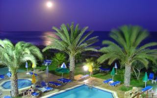Кипр, пальмы,море