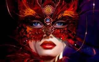 Красивая девушка в маске
