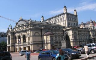 Здание театра В Киеве