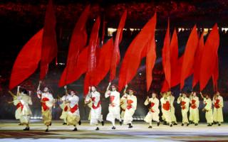 На церемонии открытия олимпиады в Рио-де-Жанейро