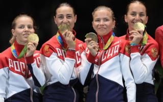 Российские саблистки — олимпийские чемпионки в командном турнире