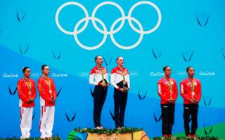 Синхронистки на олимпийском пьедестале 2016